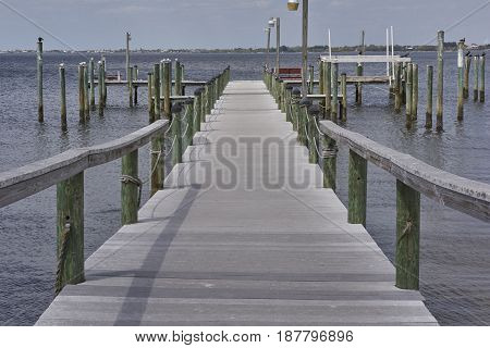wharf dock for boats in Punta Gorda Florida