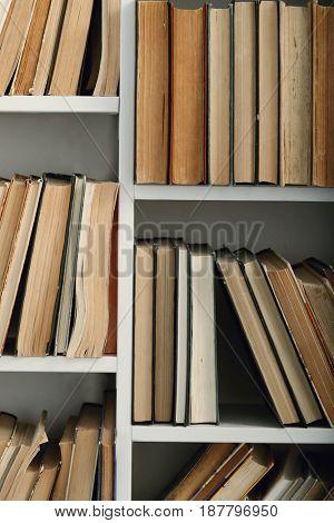 Books on a book shelves