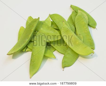 Snow peas, Pisum sativum var. saccharatum, mangetout