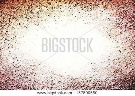 Brown frame vignette and light central space for text background