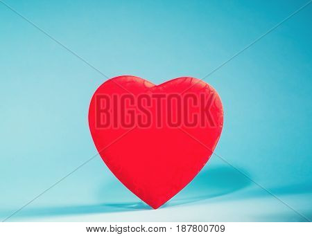 Valentine's Day Heart On A Blue Background
