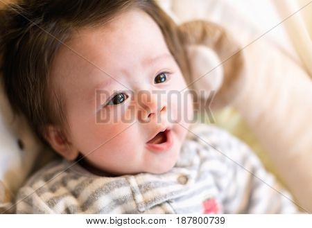 Newborn Infant Baby Boy Resting