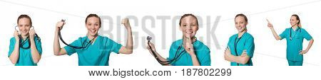 Doctor isolated on the white background