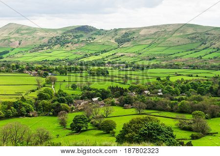 View On The Hills Near Edale, Peak District National Park, Uk