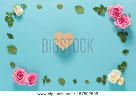 Heart With Roses And Leaves