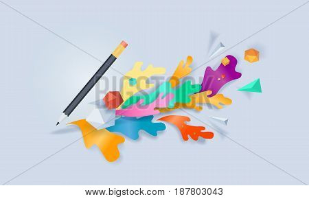 Creative concept banner. Vector illustration for blogging, copywriting, content marketing and management.