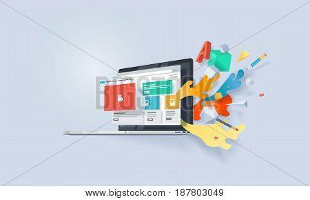 Creative concept banner. Vector illustration for website design and development.