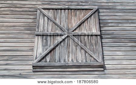 Weathered Barn Clapboard Siding And Window