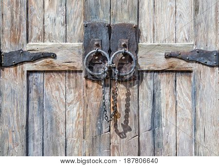 Textured Antique Locked Door