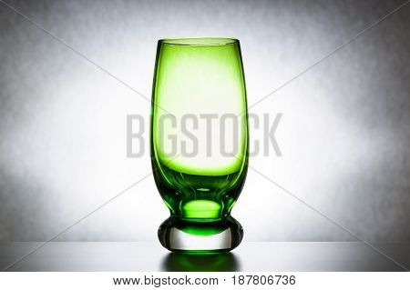 Empty Green Glass Tumbler, Abstraction, Concept Of Purity And Loneliness