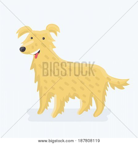 Vector illustration of cute cartoon funny Labrador retriever - dog breed
