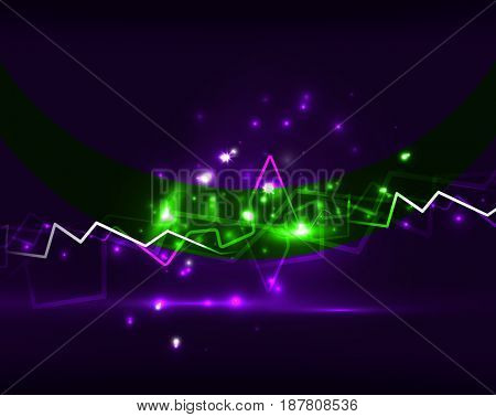 Neon lightning background template