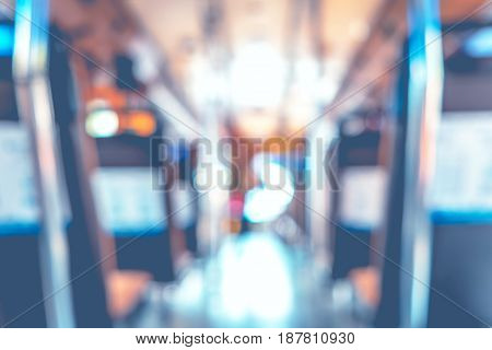 Blur Background : People In Public Transportation Bus,abstract Background,pale Vintage Filter