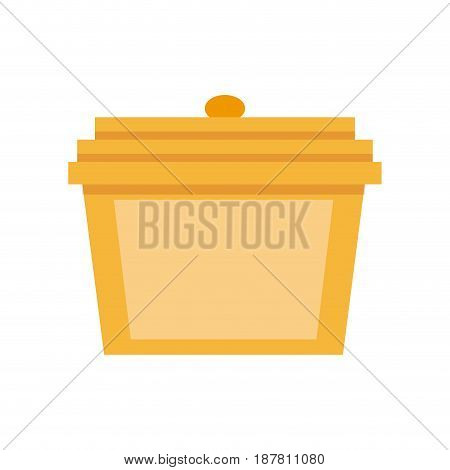 gift box made of gold precious metal vector illustration