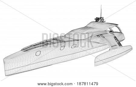 Luxury Yacht Vector 08.eps