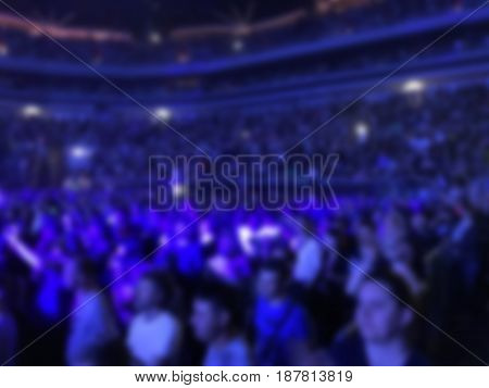 blurred concert background light show entertainment event fans andvisitors