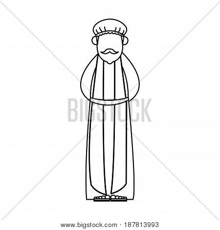 wise man cartoon epiphany tradition icon vector illustration graphic