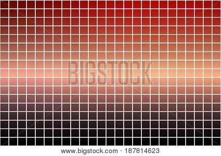 Red orange purple abstract vector square tiles over white mosaic background