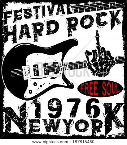 Hard Rock Music Poster  fashion style modern art