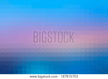Blue shades pink vector abstract rounded corners square tiles mosaic over blurred background