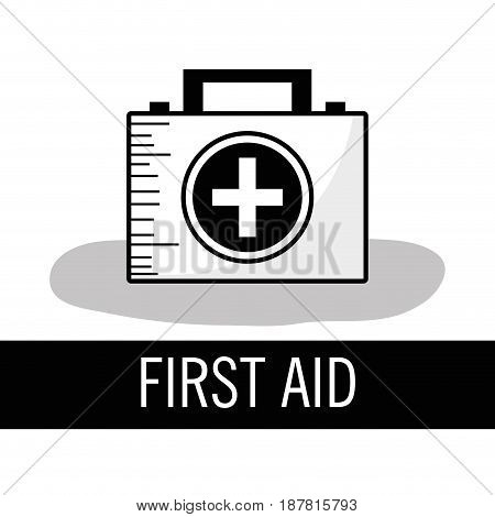 first aid kit briefcase to healthcase, vector illustration