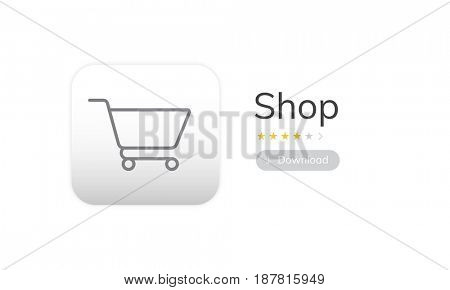 Online Shopping Store Order Concept