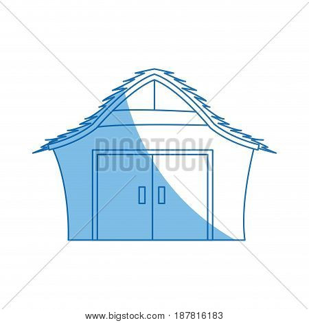cartoon house manger wooden christmas vector illustration