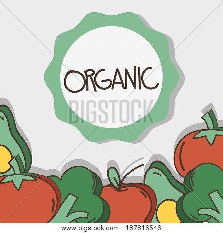 delicious fresh fruits and vegetables, vector illustration design