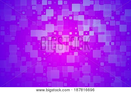Purple lilac pink vector abstract glowing background with random sizes rounded corners tiles