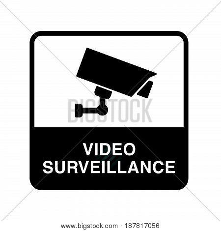 Video Surveillance Icon In Black Color Illustration