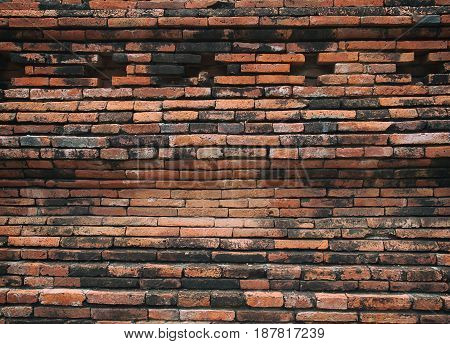 Background of brick wall texture may use to interior design.