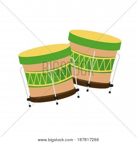 drum instrument of brazil musical vector illustration