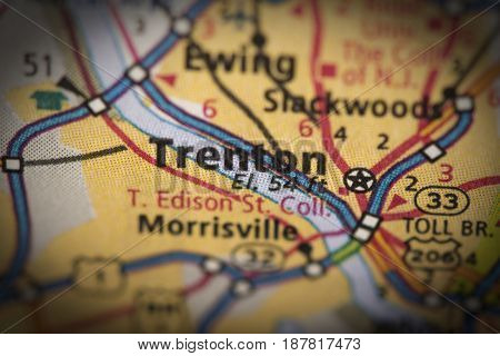 Trenton, New Jersey On Map