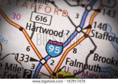 Interstate 95 In Virginia On Map