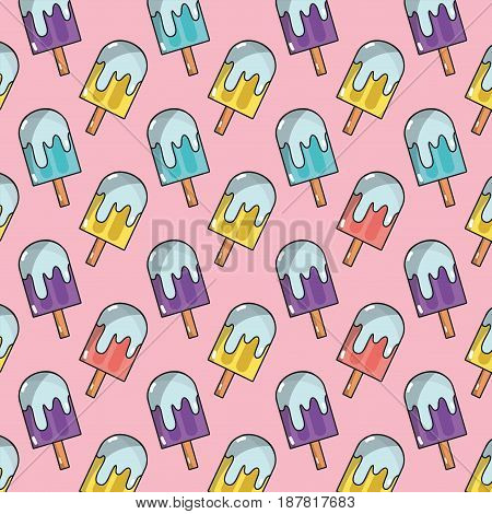 delicious and fresh ice pop background, vector illustration
