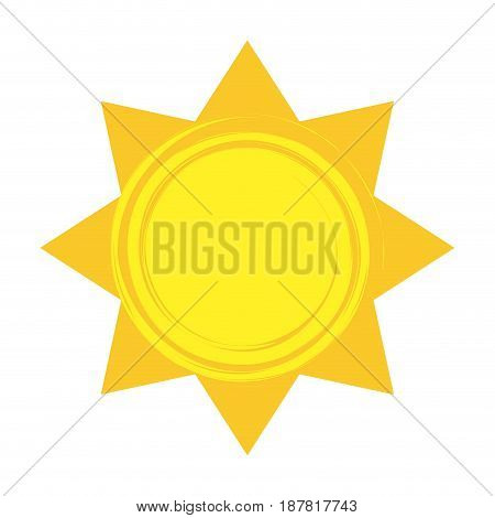 shiny sun cool weather climate icon vector illustration