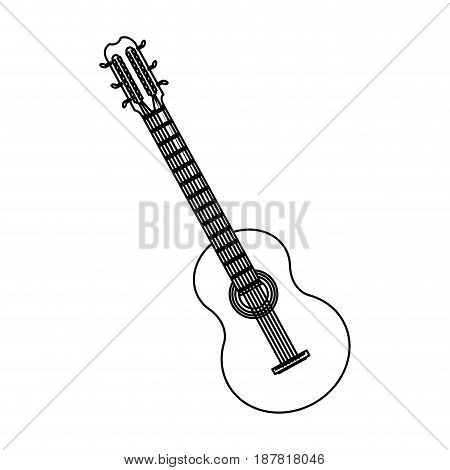 guitar instrument brazil music melody image vector illustration