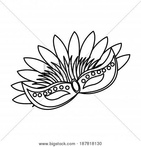 brazilian carnival mask symbol design vector illustration