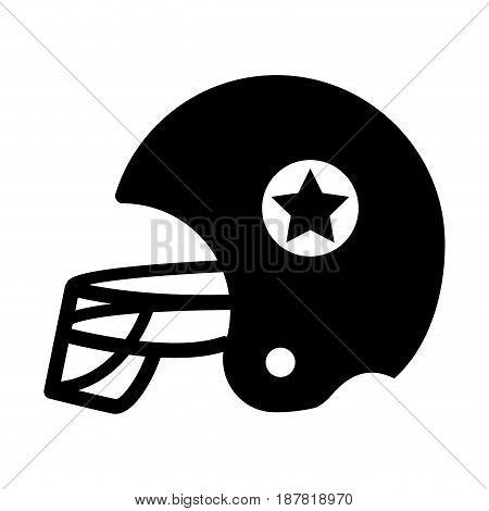 contour football helment to uniform to play sport, vector illustration