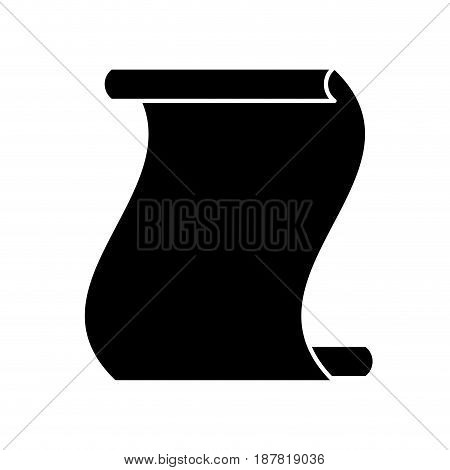 contour paper sheet to write important document, vector illustration