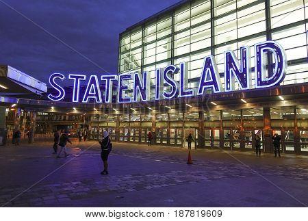 The Staten Island Ferry Terminal in Manhattan - South Ferry -  2017