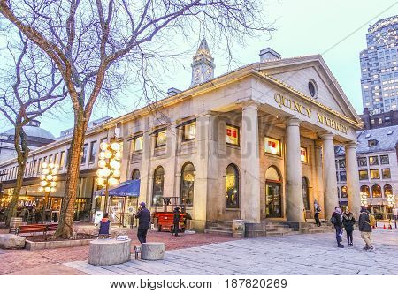 Quincy Market in North Boston - BOSTON - MASSACHUSETTS -  2017