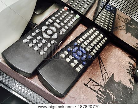 Old Used Television Remote Control in An Electronic Second Hand Shop. Remote Control Can Be Used to Operate Devices From A Distance.