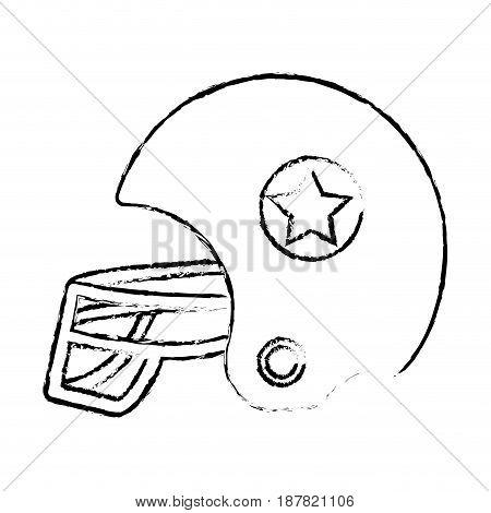 figure football helment to uniform to play sport, vector illustration