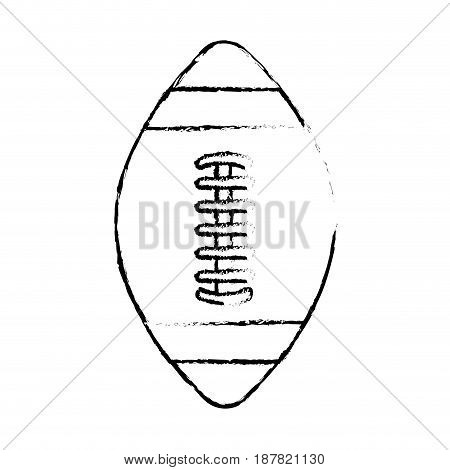figure american football tool to play the sport, vector illustration