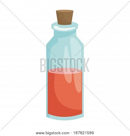 spa bottle essential oil relaxing treatment vector illustration