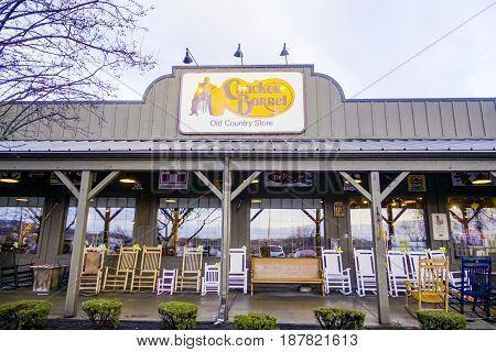Cracker Barrel restauraunf and country store -  2017
