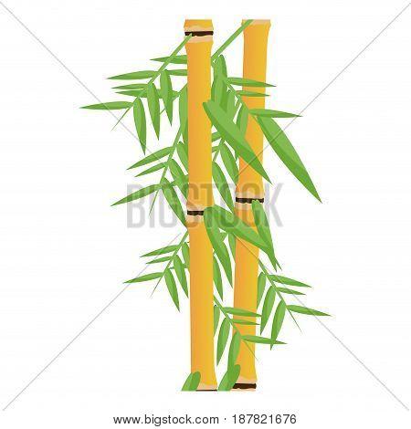 fresh bamboo leaves botanical zen forest, tropical spa decoration. vector illustration