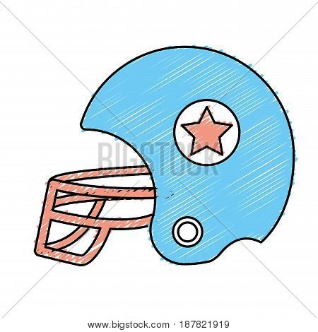 football helment to uniform to play sport, vector illustration