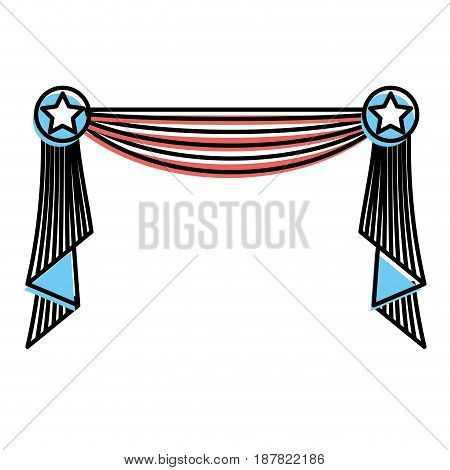 usa decoration element design to special days, vector illustration